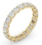 Chloe Lab Diamond Eternity Ring 18K Gold Claw Set 2.00ct H/Si - image 2