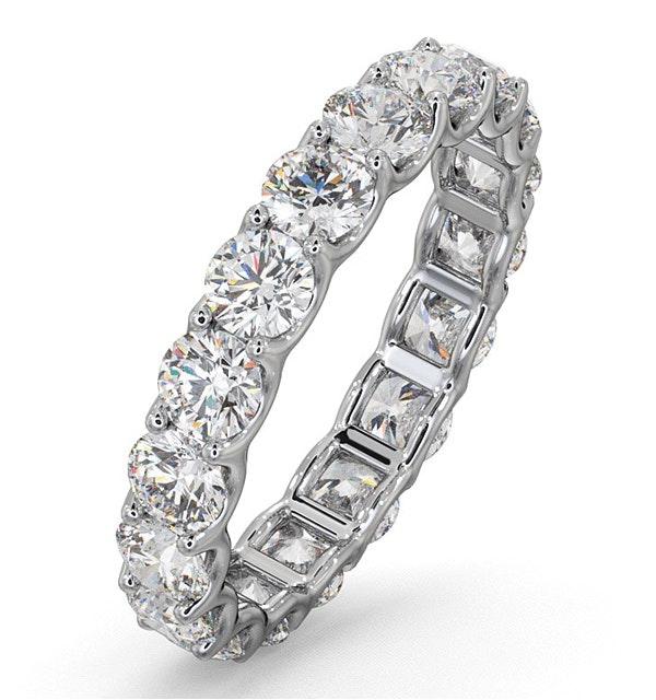 Eternity Ring Chloe Platinum Diamond 3.00ct H/Si - image 1