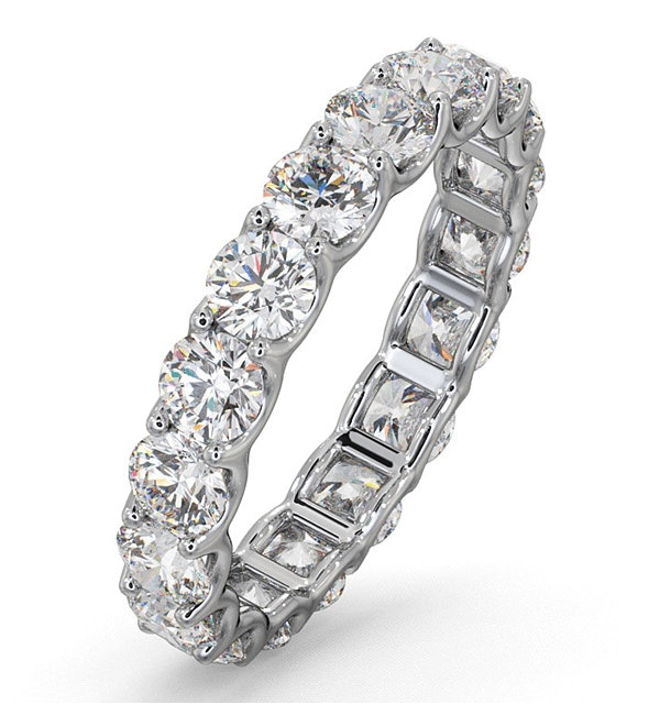 Eternity Ring Chloe 18K White Gold Diamond 3.00ct G/Vs - image 1