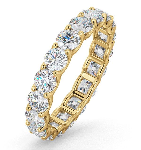 Mens 3ct G/Vs Diamond 18K Gold Full Band Ring - image 1