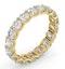 Mens 3ct G/Vs Diamond 18K Gold Full Band Ring - image 2