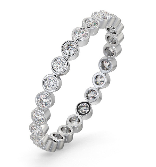Eternity Ring Emily Platinum Diamond 0.50ct H/Si - image 1