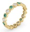 Emily 18K Gold Emerald 0.70ct and G/VS 0.50CT Diamond Eternity Ring - image 2