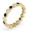 Emily 18K Gold Sapphire 0.70ct and G/VS 0.50CT Diamond Eternity Ring - image 2