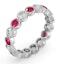Ruby 1.50ct And G/VS Diamond Platinum Eternity Ring  HG35-422TXUS - image 2