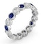 Sapphire 1.70ct And H/SI Diamond Platinum Eternity Ring - image 2