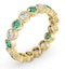 Emily 18K Gold Emerald 0.70ct and H/SI 1CT Diamond Eternity Ring - image 2