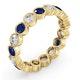 Emily 18K Gold Sapphire 0.70ct and G/VS 1CT Diamond Eternity Ring - image 2