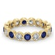 Emily 18K Gold Sapphire 0.70ct and G/VS 1CT Diamond Eternity Ring - image 3