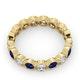 Emily 18K Gold Sapphire 0.70ct and G/VS 1CT Diamond Eternity Ring - image 4