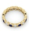 Emily 18K Gold Sapphire 0.70ct and H/SI 1CT Diamond Eternity Ring - image 4
