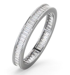 Mens 1ct H/Si Diamond 18K White Gold Full Band Ring  IHG45-322JUY