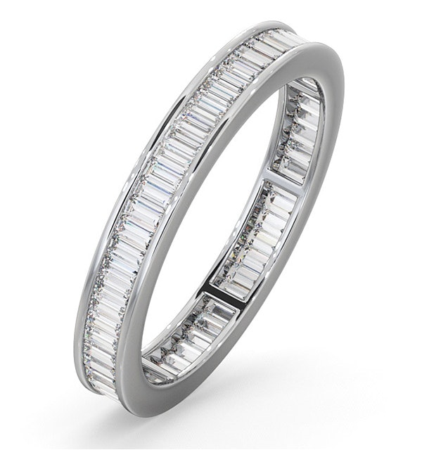 Mens 1ct H/Si Diamond 18K White Gold Full Band Ring  IHG45-322JUY - image 1