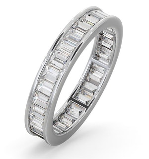 Eternity Ring Grace Platinum Diamond 1.50ct H/Si