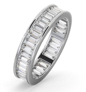Mens 2ct G/Vs Diamond 18K White Gold Full Band Ring