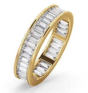 Mens 2ct H/Si Diamond 18K Gold Full Band Ring
