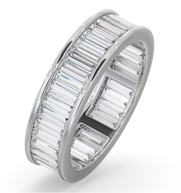 Mens 3ct G/Vs Diamond 18K White Gold Full Band Ring - image 1