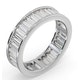 Mens 3ct H/Si Diamond 18K White Gold Full Band Ring - image 2