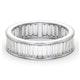 Mens 3ct H/Si Diamond 18K White Gold Full Band Ring - image 3