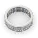 Mens 3ct H/Si Diamond 18K White Gold Full Band Ring - image 4