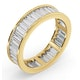 Mens 3ct H/Si Diamond 18K Gold Full Band Ring - image 2