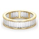 Mens 3ct H/Si Diamond 18K Gold Full Band Ring - image 3