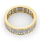 Mens 3ct H/Si Diamond 18K Gold Full Band Ring - image 4