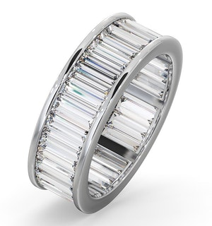 Mens 5ct H/Si Diamond 18K White Gold Full Band Ring