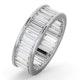 Mens 5ct G/Vs Diamond Platinum Full Band Ring - image 1