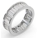 Mens 5ct G/Vs Diamond Platinum Full Band Ring - image 2