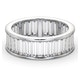 Mens 5ct G/Vs Diamond Platinum Full Band Ring - image 3