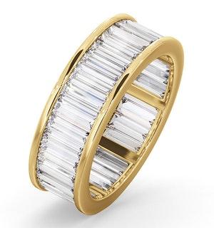 Mens 5ct H/Si Diamond 18K Gold Full Band Ring  IHG45-722JUA