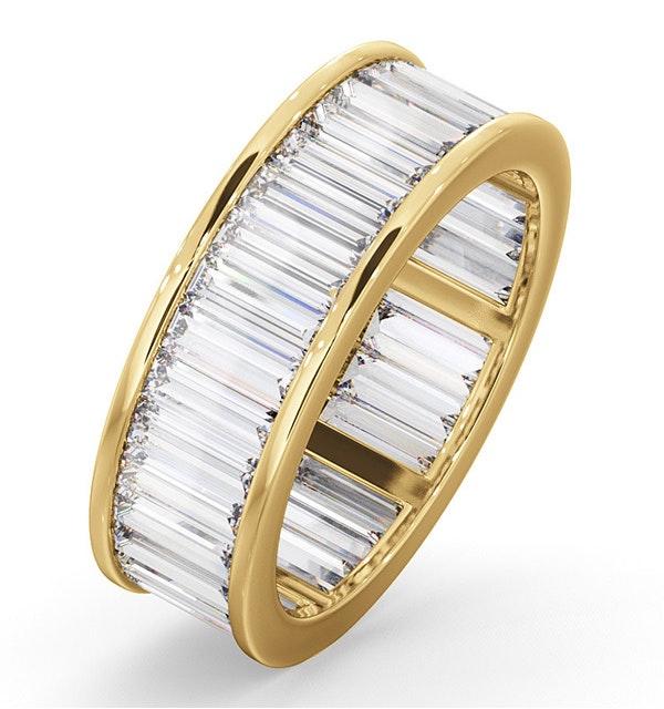 Mens 5ct G/Vs Diamond 18K Gold Full Band Ring  IHG45-722XUA - image 1