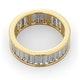 Mens 5ct G/Vs Diamond 18K Gold Full Band Ring  IHG45-722XUA - image 4