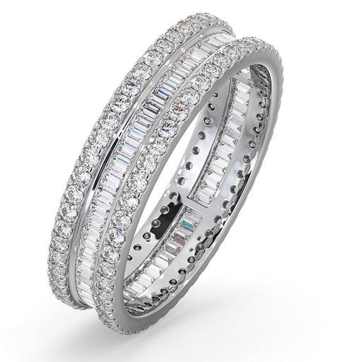 Eternity Ring Katie 18K White Gold Diamond 1.00ct H/Si - image 1