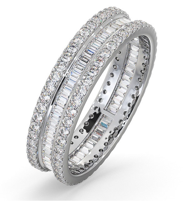 Eternity Ring Katie Platinum Diamond 1.00ct H/Si - image 1