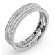 Eternity Ring Katie Platinum Diamond 1.00ct H/Si - image 2