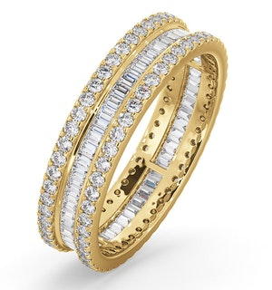 Eternity Ring Katie 18K Gold Diamond 1.00ct H/Si