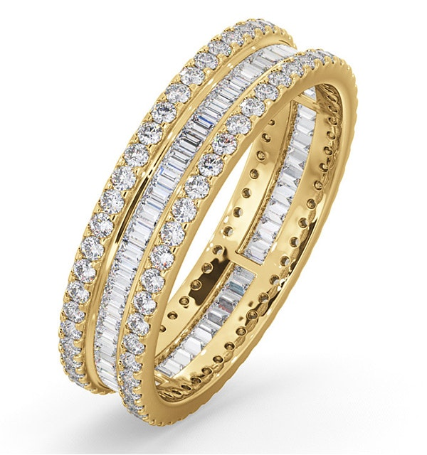 Eternity Ring Katie 18K Gold Diamond 1.00ct H/Si - image 1