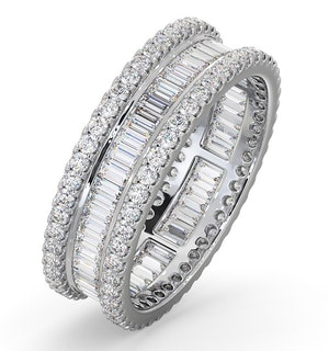 Eternity Ring Katie 18K White Gold Diamond 2.00ct H/Si