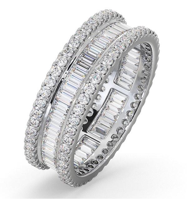Eternity Ring Katie 18K White Gold Diamond 2.00ct H/Si - image 1