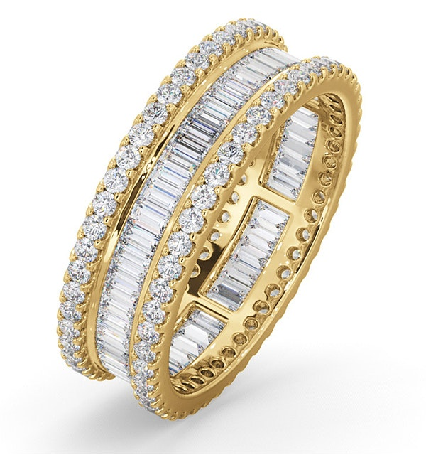 Eternity Ring Katie 18K Gold Diamond 2.00ct H/Si - image 1