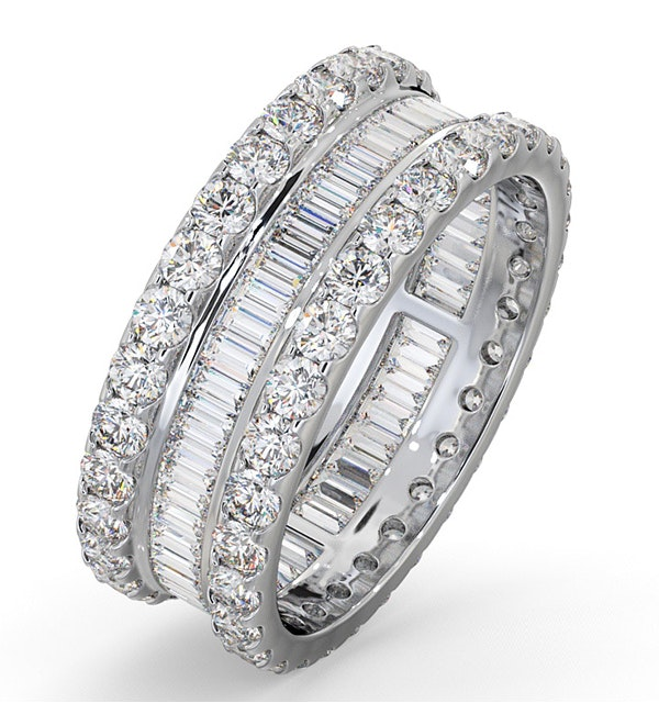 Eternity Ring Katie 18K White Gold Diamond 3.00ct G/Vs - image 1