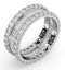 Eternity Ring Katie 18K White Gold Diamond 3.00ct H/Si - image 2