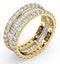 Eternity Ring Katie 18K Gold Diamond 3.00ct H/Si - image 2