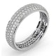 Mens 1ct H/Si Diamond 18K White Gold Full Band Ring  IHG55-322JUY - image 2