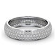 Mens 1ct H/Si Diamond 18K White Gold Full Band Ring  IHG55-322JUY - image 3