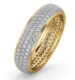 Mens 1ct H/Si Diamond 18K Gold Full Band Ring  IHG55-322JUA