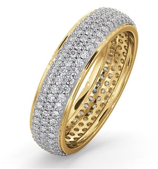 Mens 1ct H/Si Diamond 18K Gold Full Band Ring  IHG55-322JUA - image 1