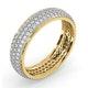 Mens 1ct H/Si Diamond 18K Gold Full Band Ring  IHG55-322JUA - image 2